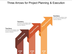 Three Arrows For Project Planning And Execution Ppt PowerPoint Presentation Pictures Examples