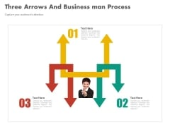 Three Arrows For Strategic Management Process Powerpoint Template