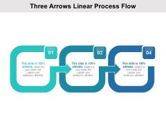 Three Arrows Linear Process Flow Ppt PowerPoint Presentation Show Topics PDF