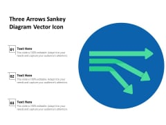 Three Arrows Sankey Diagram Vector Icon Ppt PowerPoint Presentation Slides Inspiration PDF