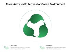 Three Arrows With Leaves For Green Environment Ppt PowerPoint Presentation Gallery Graphic Tips PDF
