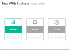 Three Banners With Process Control Icons Powerpoint Slides