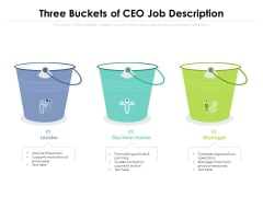 Three Buckets Of CEO Job Description Ppt PowerPoint Presentation Gallery Topics PDF