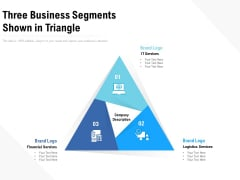 Three Business Segments Shown In Triangle Ppt PowerPoint Presentation Slides Layout PDF