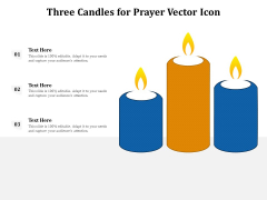 Three Candles For Prayer Vector Icon Ppt PowerPoint Presentation File Mockup PDF