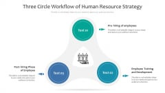 Three Circle Workflow Of Human Resource Strategy Ppt PowerPoint Presentation Gallery Graphics PDF