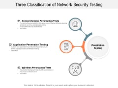 Three Classification Of Network Security Testing Ppt PowerPoint Presentation Slides Demonstration