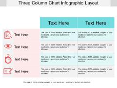 Three Column Chart Infographic Layout Ppt PowerPoint Presentation Model Portrait PDF