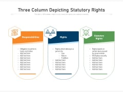 Three Column Depicting Statutory Rights Ppt PowerPoint Presentation Gallery Images PDF