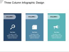 Three Column Infographic Design Ppt PowerPoint Presentation Diagram Ppt