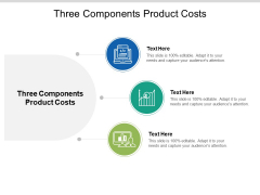 Three Components Product Costs Ppt PowerPoint Presentation Styles Demonstration Cpb