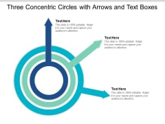 Three Concentric Circles With Arrows And Text Boxes Ppt Powerpoint Presentation Professional Master Slide