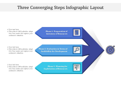 Three Converging Steps Infographic Layout Ppt PowerPoint Presentation Infographics Template PDF