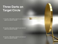Three Darts On Target Circle Ppt PowerPoint Presentation Inspiration Templates