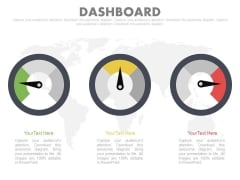 Three Dashboard For Risk Management Techniques Powerpoint Slides