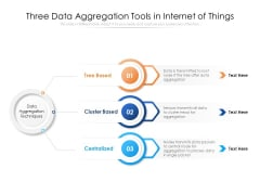 Three Data Aggregation Tools In Internet Of Things Ppt PowerPoint Presentation File Background PDF
