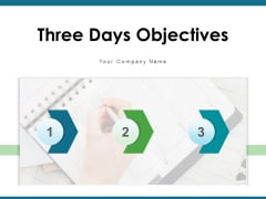 Three Days Objectives Employees Plan Ppt PowerPoint Presentation Complete Deck