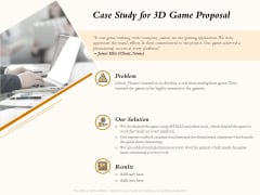 Three Dimensional Games Proposal Case Study For 3D Game Proposal Introduction PDF