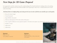 Three Dimensional Games Proposal Next Steps For 3D Game Proposal Rules PDF