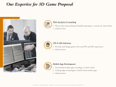Three Dimensional Games Proposal Our Expertise For 3D Game Proposal Designs PDF
