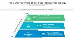 Three Distinct Type Of Business Marketing Strategy Ppt Professional Example Topics PDF