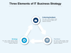 Three Elements Of It Business Strategy Ppt PowerPoint Presentation Ideas Microsoft PDF