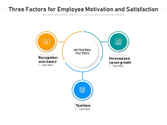 Three Factors For Employee Motivation And Satisfaction Ppt PowerPoint Presentation File Model PDF