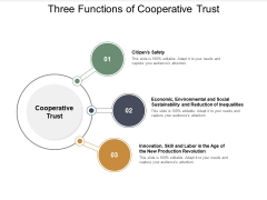 Three Functions Of Cooperative Trust Ppt PowerPoint Presentation Infographic Template