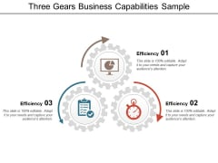 Three Gears Business Capabilities Sample Ppt PowerPoint Presentation File Picture PDF