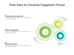Three Gears For Consumer Engagement Process Ppt PowerPoint Presentation Infographics Skills PDF