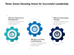 Three Gears Showing Areas For Successful Leadership Ppt PowerPoint Presentation Gallery Graphics Download PDF