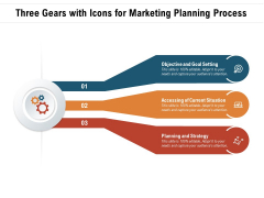 Three Gears With Icons For Marketing Planning Process Ppt PowerPoint Presentation Outline Background PDF