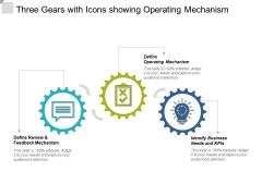 Three Gears With Icons Showing Operating Mechanism Ppt Powerpoint Presentation Slides Slideshow