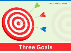 Three Goals Marketing Strategies Ppt PowerPoint Presentation Complete Deck