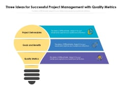 Three Ideas For Successful Project Management With Quality Metrics Ppt PowerPoint Presentation Pictures Graphics PDF