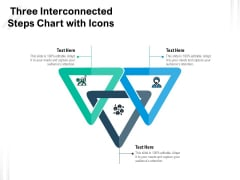Three Interconnected Steps Chart With Icons Ppt PowerPoint Presentation Professional Example