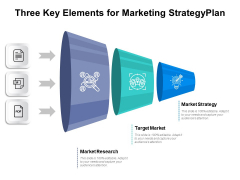 Three Key Elements For Marketing Strategy Ppt PowerPoint Presentation Portfolio Example File PDF