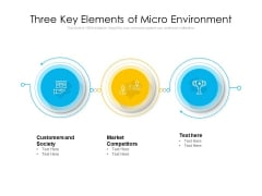 Three Key Elements Of Micro Environment Ppt PowerPoint Presentation File Outline PDF