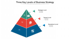 Three Key Levels Of Business Strategy Ppt PowerPoint Presentation File Good PDF