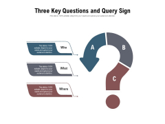Three Key Questions And Query Sign Ppt PowerPoint Presentation Infographics Maker PDF