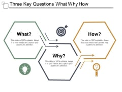 Three Key Questions What Why How Ppt PowerPoint Presentation Inspiration Show