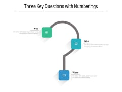 Three Key Questions With Numberings Ppt PowerPoint Presentation Professional Example PDF