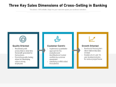 Three Key Sales Dimensions Of Cross Selling In Banking Ppt PowerPoint Presentation File Deck PDF