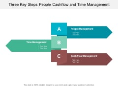 Three Key Steps People Cashflow And Time Management Ppt PowerPoint Presentation Slides Tips