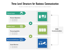 Three Level Structure For Business Communication Ppt PowerPoint Presentation Gallery Designs PDF