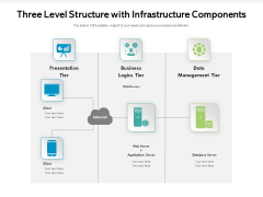Three Level Structure With Infrastructure Components Ppt PowerPoint Presentation File Professional PDF
