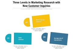 Three Levels In Marketing Research With New Customer Inquiries Ppt Summary Background PDF