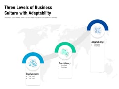 Three Levels Of Business Culture With Adaptability Ppt Outline Guide PDF