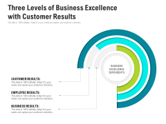 Three Levels Of Business Excellence With Customer Results Ppt Model Maker PDF