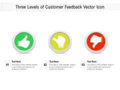 Three Levels Of Customer Feedback Vector Icon Ppt PowerPoint Presentation Portfolio Summary PDF